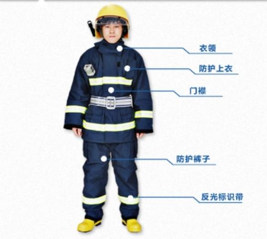 消防02款防火服五件套